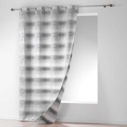 Rideau a oeillets 140 x 260 cm jacquard orianne Gris