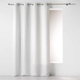 Rideau a oeillets 140 x 260 cm jacquard riad Blanc