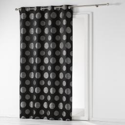 Rideau a oeillets 140 x 260 cm jacquard satellis Noir