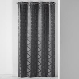 Rideau a oeillets 140 x 260 cm jacquard vogue Anthracite