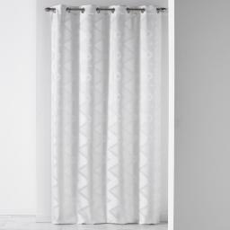 Rideau a oeillets 140 x 260 cm jacquard vogue Blanc