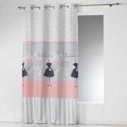 rideau a oeillets 140 x 260 cm microfibre imprimee couture