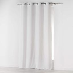 Rideau a oeillets 140 x 260 cm microfibre unie absolu Blanc