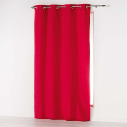 Rideau a oeillets 140 x 260 cm microfibre unie absolu Rouge