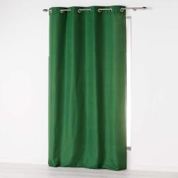 Rideau a oeillets 140 x 260 cm microfibre unie absolu Vert