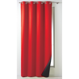 Rideau a oeillets 140 x 260 cm occultant isolant moony Rouge