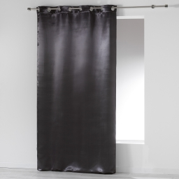 Rideau a oeillets 140 x 260 cm occultant satin satina Noir