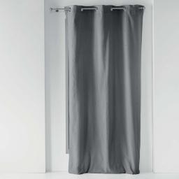 Rideau a oeillets 140 x 260 cm polycoton uni lyrae Anthracite