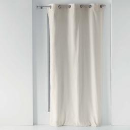 Rideau a oeillets 140 x 260 cm polycoton uni lyrae Naturel
