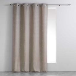 Rideau a oeillets 140 x 260 cm polyester applique filiane Taupe
