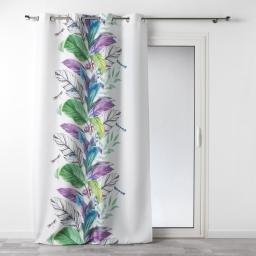 rideau a oeillets 140 x 260 cm polyester imprime aelia