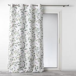rideau a oeillets 140 x 260 cm polyester imprime ancolie
