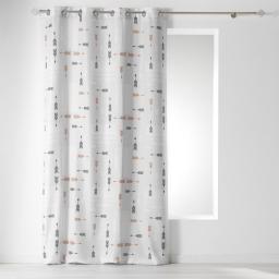 rideau a oeillets 140 x 260 cm polyester imprime boho chic