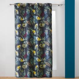 rideau a oeillets 140 x 260 cm polyester imprime botanica