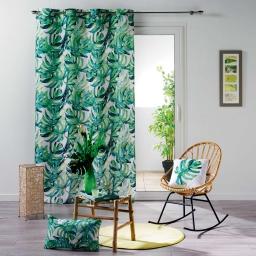 rideau a oeillets 140 x 260 cm polyester imprime carvenao