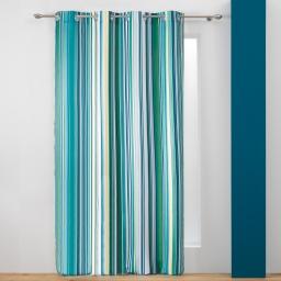 rideau a oeillets 140 x 260 cm polyester imprime color line