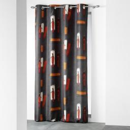 rideau a oeillets 140 x 260 cm polyester imprime d/f awale