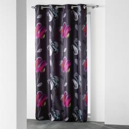 rideau a oeillets 140 x 260 cm polyester imprime d/f floria