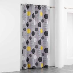 rideau a oeillets 140 x 260 cm polyester imprime d/f iloa