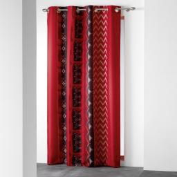rideau a oeillets 140 x 260 cm polyester imprime d/f izia