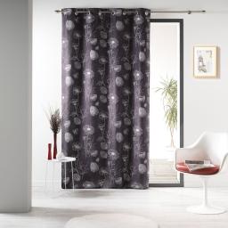 rideau a oeillets 140 x 260 cm polyester imprime d/f marquis