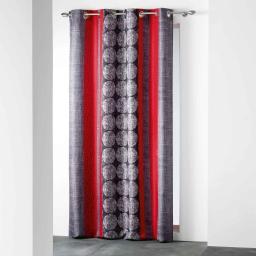 rideau a oeillets 140 x 260 cm polyester imprime d/f nelio