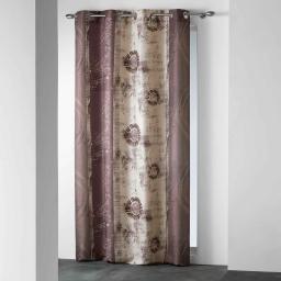 Rideau a oeillets 140 x 260 cm polyester imprime d/f nunoa Naturel