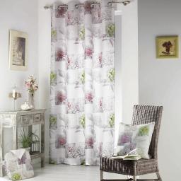 rideau a oeillets 140 x 260 cm polyester imprime d/f romantic flower