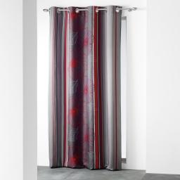 rideau a oeillets 140 x 260 cm polyester imprime d/f solana