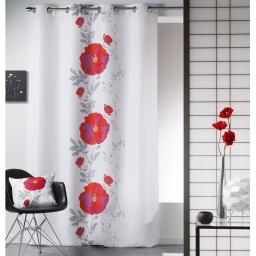 rideau a oeillets 140 x 260 cm polyester imprime dora
