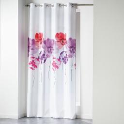 Rideau a oeillets 140 x 260 cm polyester imprime dounia Rouge
