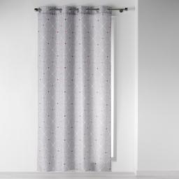 rideau a oeillets 140 x 260 cm polyester imprime elegante