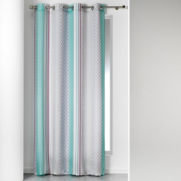 rideau a oeillets 140 x 260 cm polyester imprime eliseo