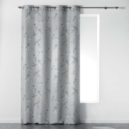 Rideau a oeillets 140 x 260 cm polyester imprime envolee chic Jaune