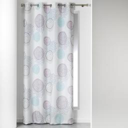 rideau a oeillets 140 x 260 cm polyester imprime eryn