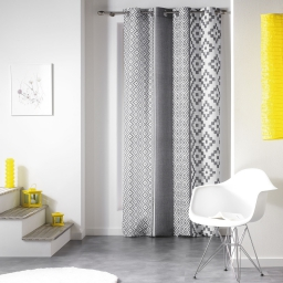 rideau a oeillets 140 x 260 cm polyester imprime esteban