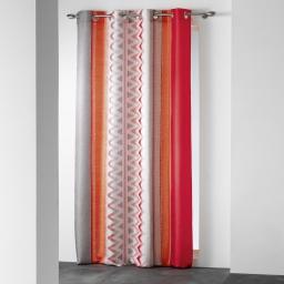 rideau a oeillets 140 x 260 cm polyester imprime ethnis