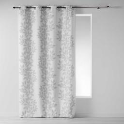 Rideau a oeillets 140 x 260 cm polyester imprime farandole Blanc