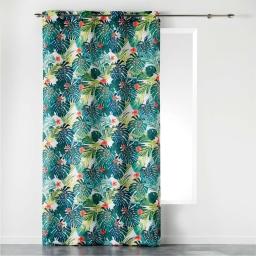 rideau a oeillets 140 x 260 cm polyester imprime flash tropic