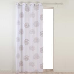 Rideau a oeillets 140 x 260 cm polyester imprime galya Blanc
