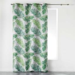 rideau a oeillets 140 x 260 cm polyester imprime green paradise