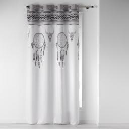 rideau a oeillets 140 x 260 cm polyester imprime idaho