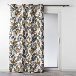rideau a oeillets 140 x 260 cm polyester imprime janela