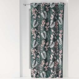 Rideau a oeillets 140 x 260 cm polyester imprime jardin d'interieur Kaki