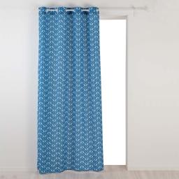 Rideau a oeillets 140 x 260 cm polyester imprime jodie Bleu