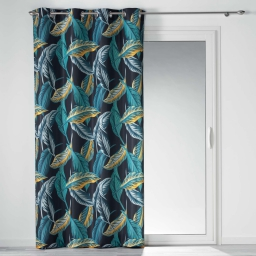 rideau a oeillets 140 x 260 cm polyester imprime jungola