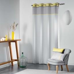 Rideau a oeillets 140 x 260 cm polyester imprime matik Jaune