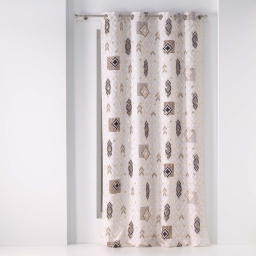 rideau a oeillets 140 x 260 cm polyester imprime metallise jangal