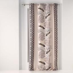 rideau a oeillets 140 x 260 cm polyester imprime metallise kalahari