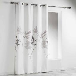 rideau a oeillets 140 x 260 cm polyester imprime mirella